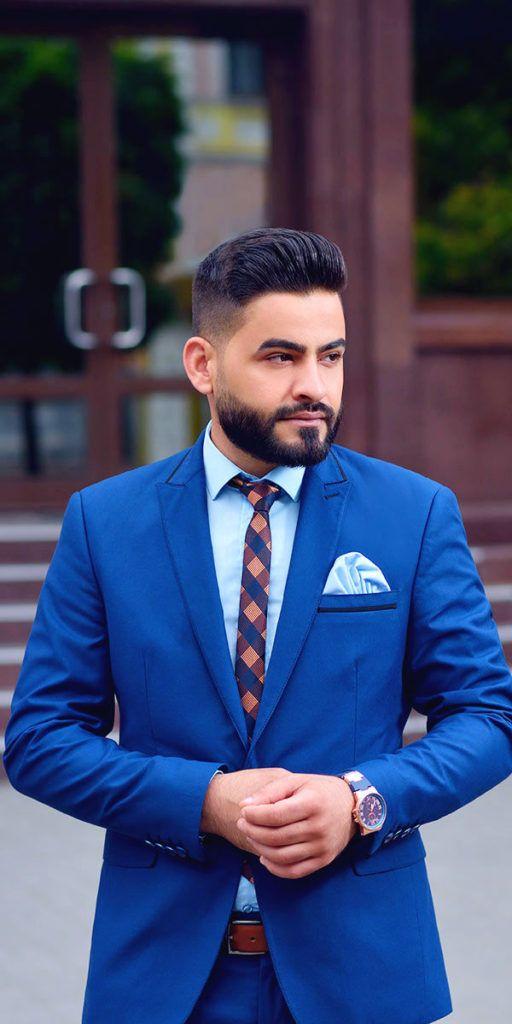 Men's royal blue suit, blue shirt, blue pocket square, Mens custom suits, customized suits, affordable suits