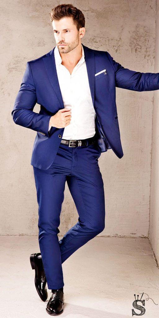 Men's sapphire blue suit, Mens custom suits, customized suits, affordable suits
