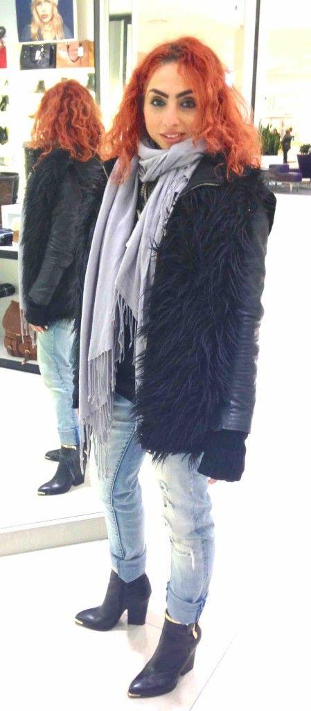 DIY fur vest outfit