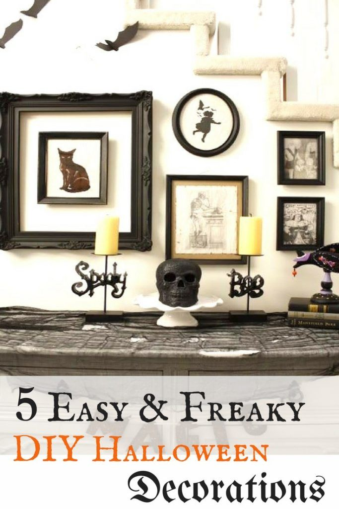 5 easy freaky diy halloween decorations