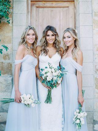 Light grey bridesmaid dress