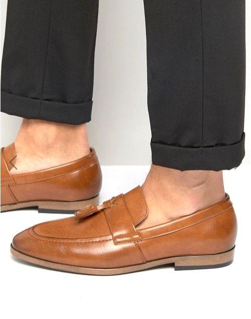 Caramel brogue shoes