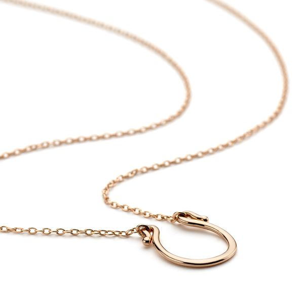 Rose gold jewellery horse shoe necklace