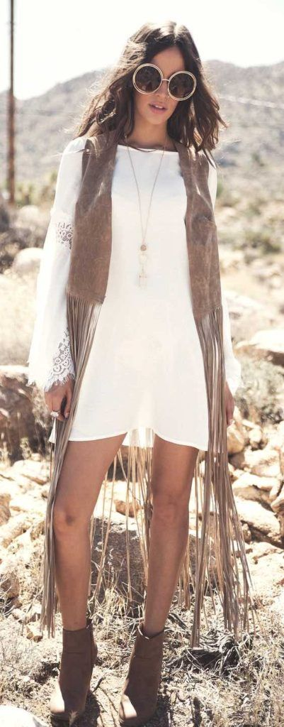 Fringe vest, gypsy vest, Boho fashion, Coachella style, Coachella accessories, Coachella looks, Coachella fashions