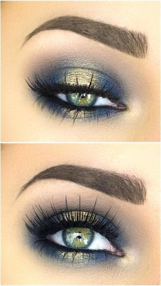 Blues of the Sea eye makeup look