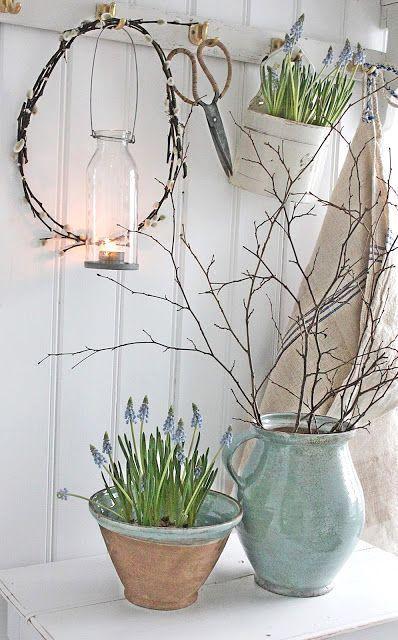 Lavender floral pot, Easter decoration ideas, DIY easter flower pot