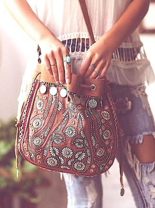 Boho fashion, Boho bag, gypsy bag, Coachella style, Coachella accessories, Coachella looks, Coachella fashions