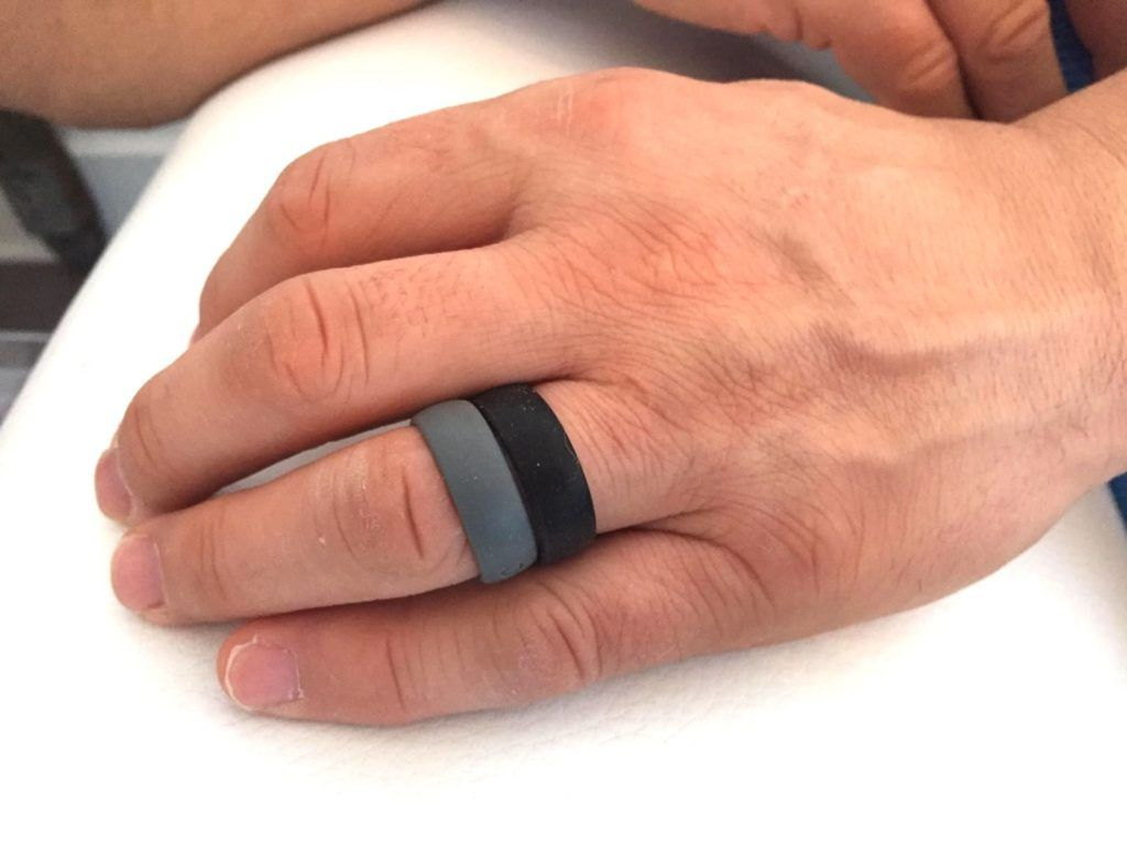 Groove Life ring for men in grey and black
