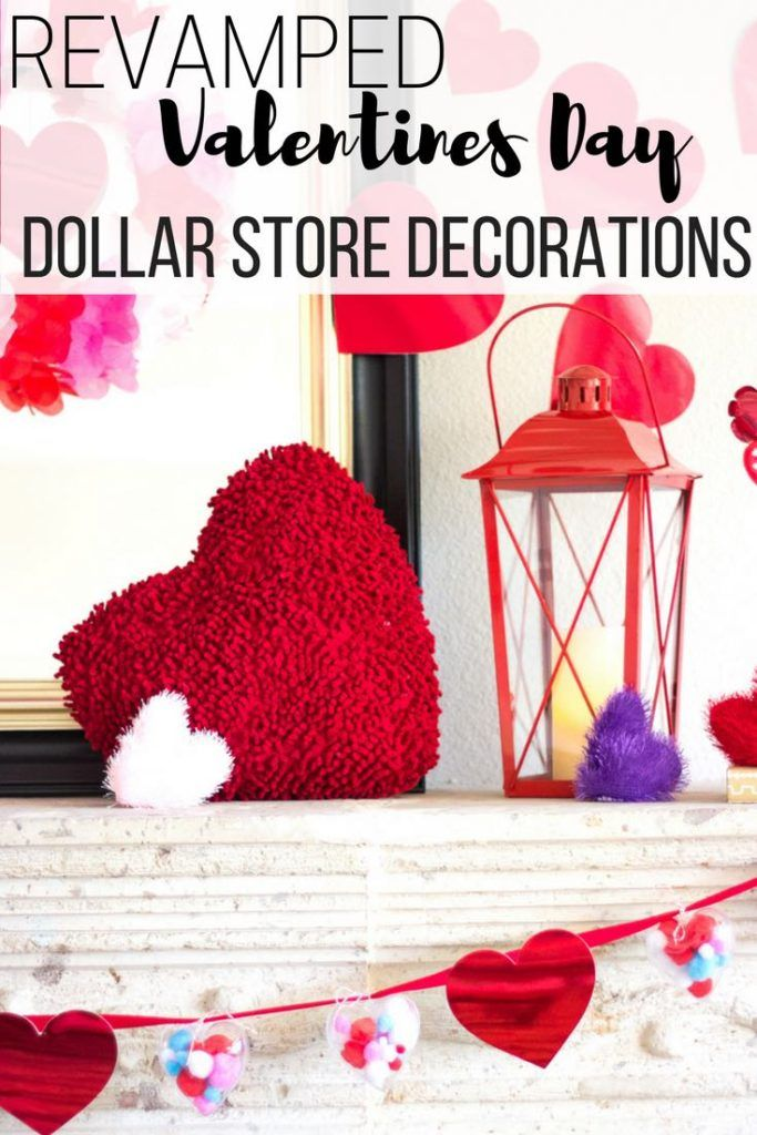 Revamped dollar store Valentines decorations - pin