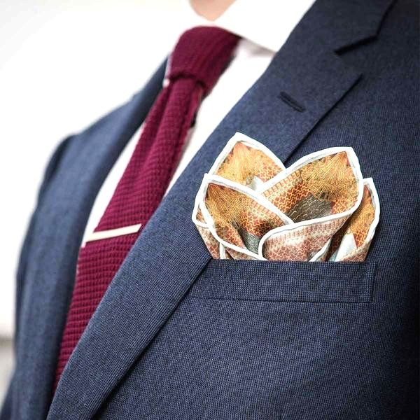 4 mountain fold pocket square