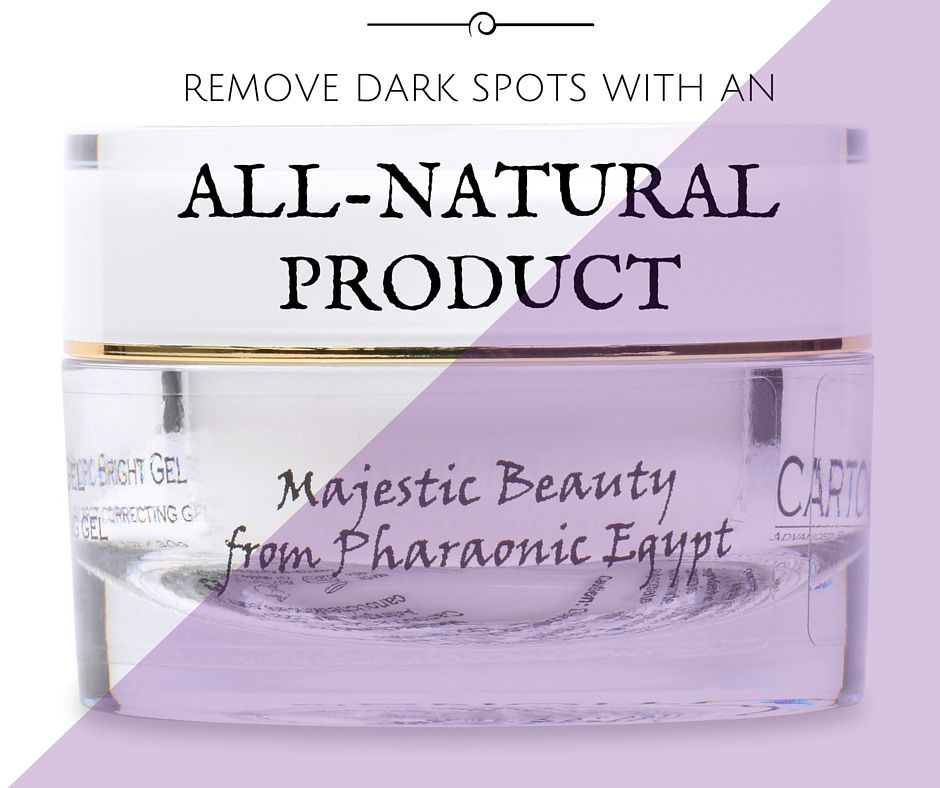 Remove dark spots with Cartouche, an all natural product