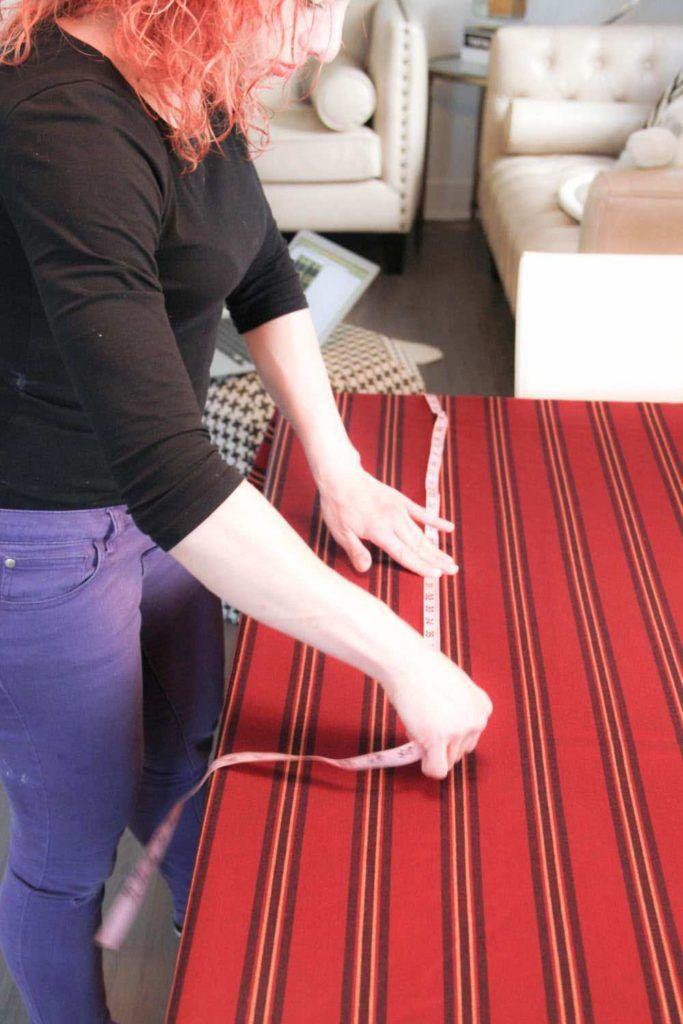 Measuring blanket scarf fabric