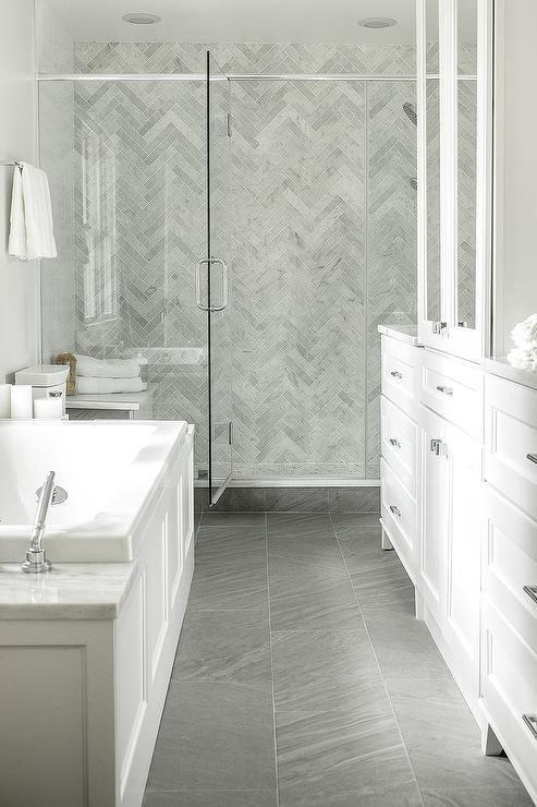 Porcelain bathroom floor