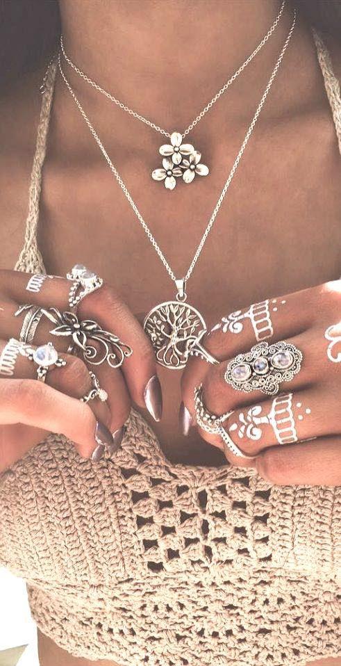Boho accessories, Boho rings Coachella style, Boho fashion, Coachella accessories, Coachella fashion, Coachella jewelry