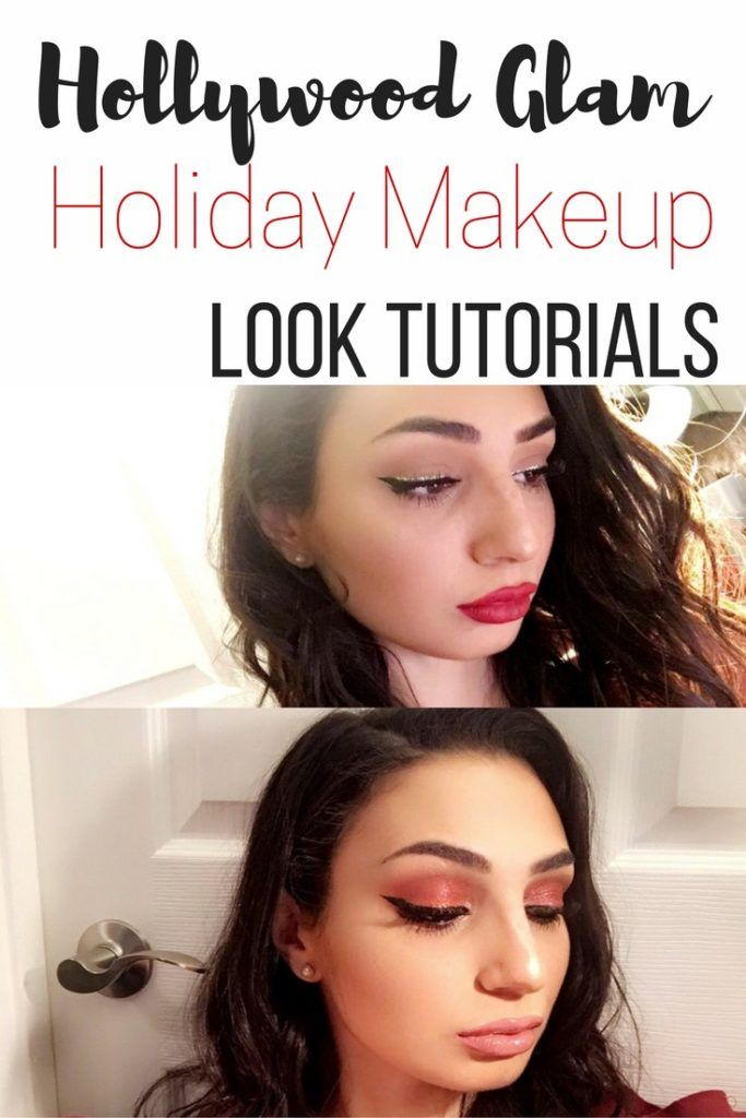 hollywood glam christmas makeup looks
