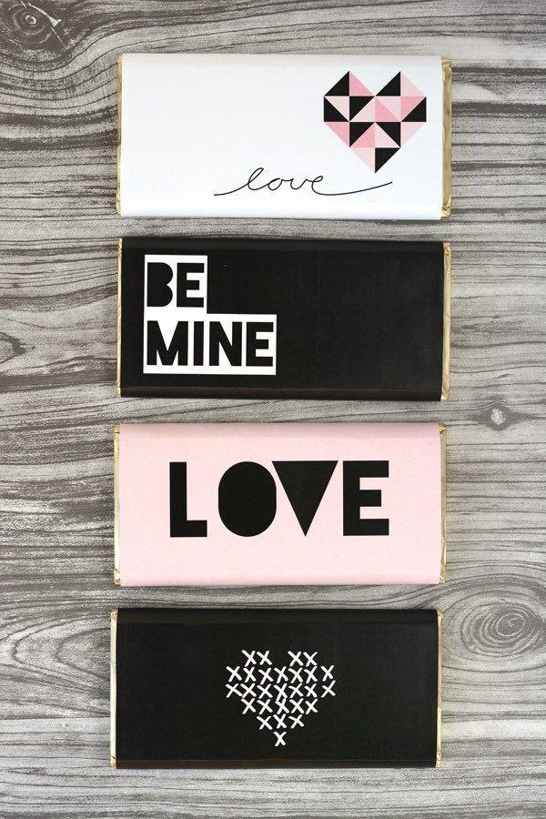 printable valentine chocolate bar wrap