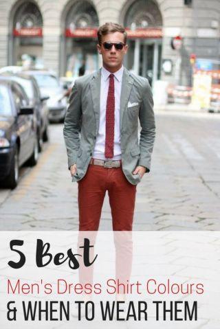 5 Best men's dress shirt colours & When to Wear Them