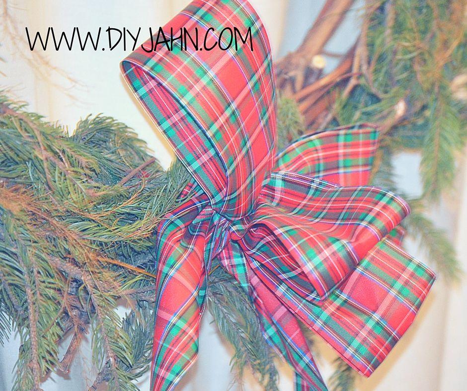 DIY Christmas ribbon