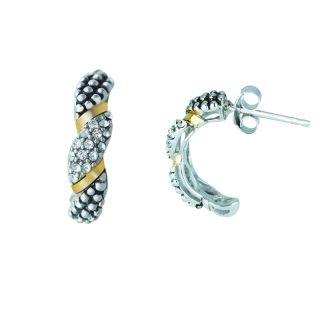 Swarovski crystals, silver, gold earrings