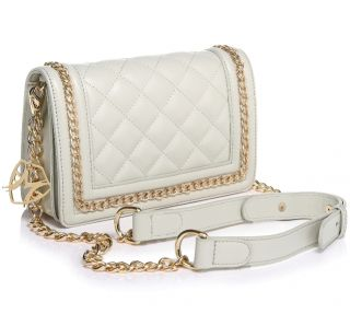 Tanya leather white with chain