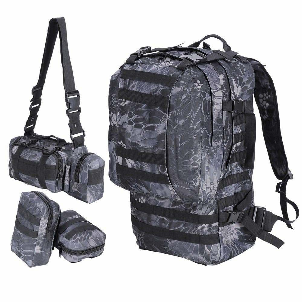 Camping military grade backpack all components