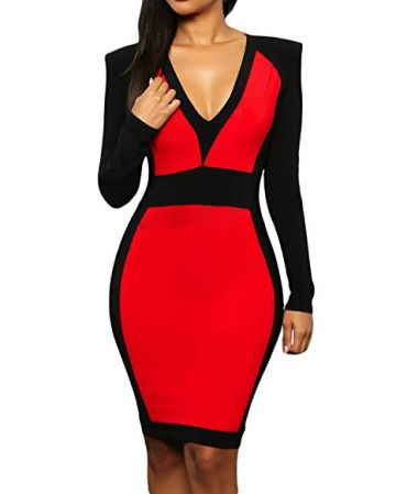 red-and-black-bodycon-dress