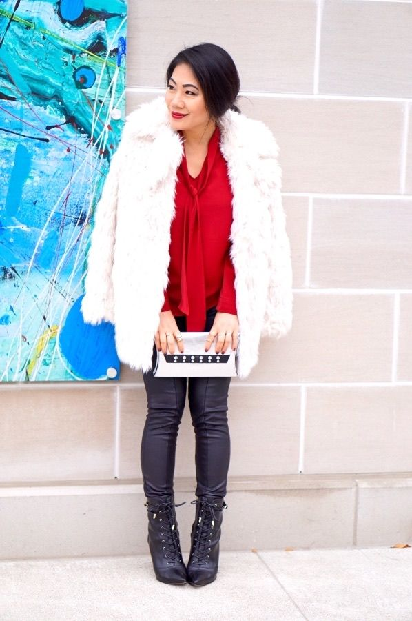 grace-in-a-red-tunic-with-a-white-fur-jackets-and-leather-pants-with-laceup-booties