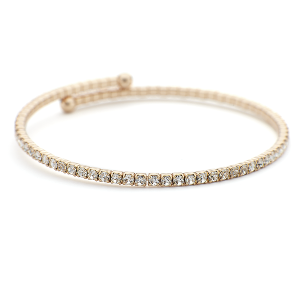Rose gold constellation bangle with crystal