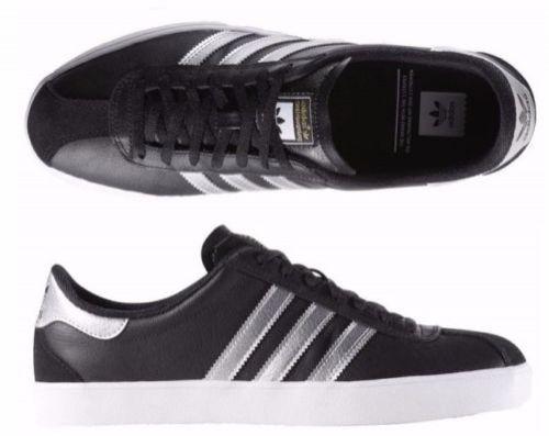 Adidas originals in black leather
